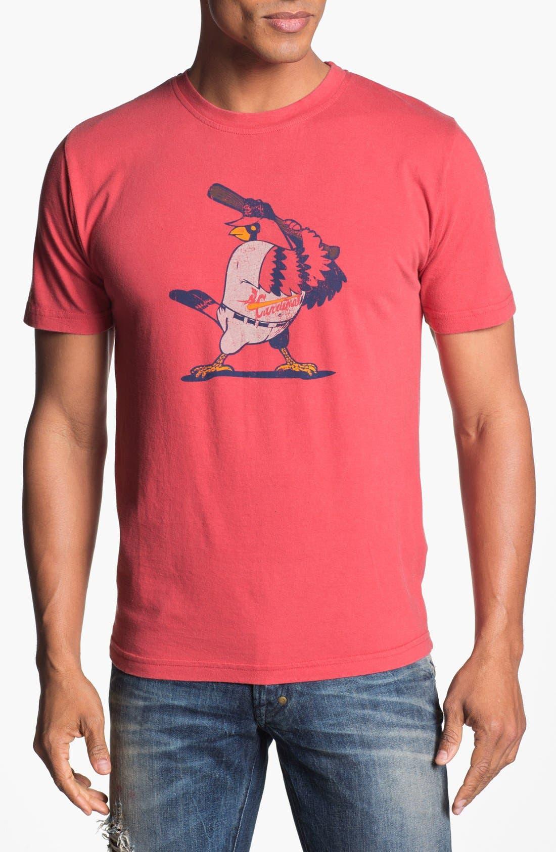 'Texas Rangers' Regular Fit Crewneck T-Shirt,                         Main,                         color, Red/ Navy