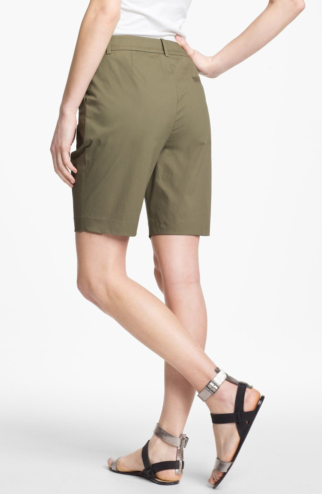 Alternate Image 2  - Lafayette 148 New York Stretch Cotton Bermuda Shorts