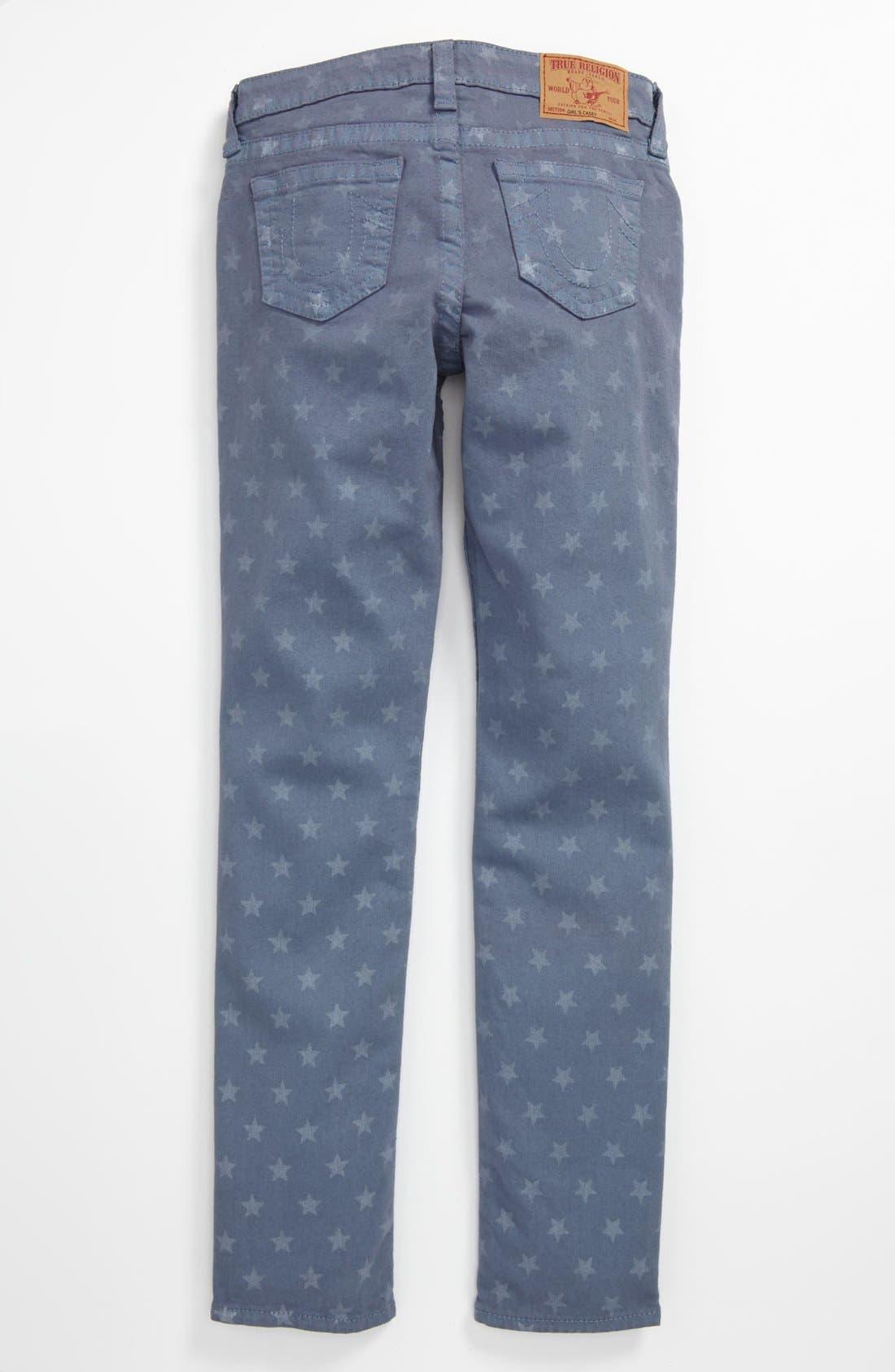Alternate Image 1 Selected - True Religion Brand Jeans Skinny Leg Jeans (Big Girls)