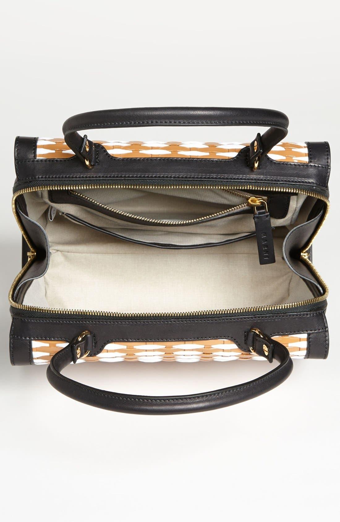 Alternate Image 2  - Marni Woven Leather & Raffia Satchel