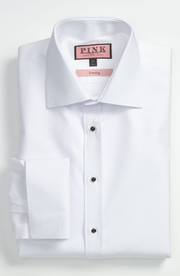 Thomas Pink Slim Fit Tuxedo Shirt | Nordstrom