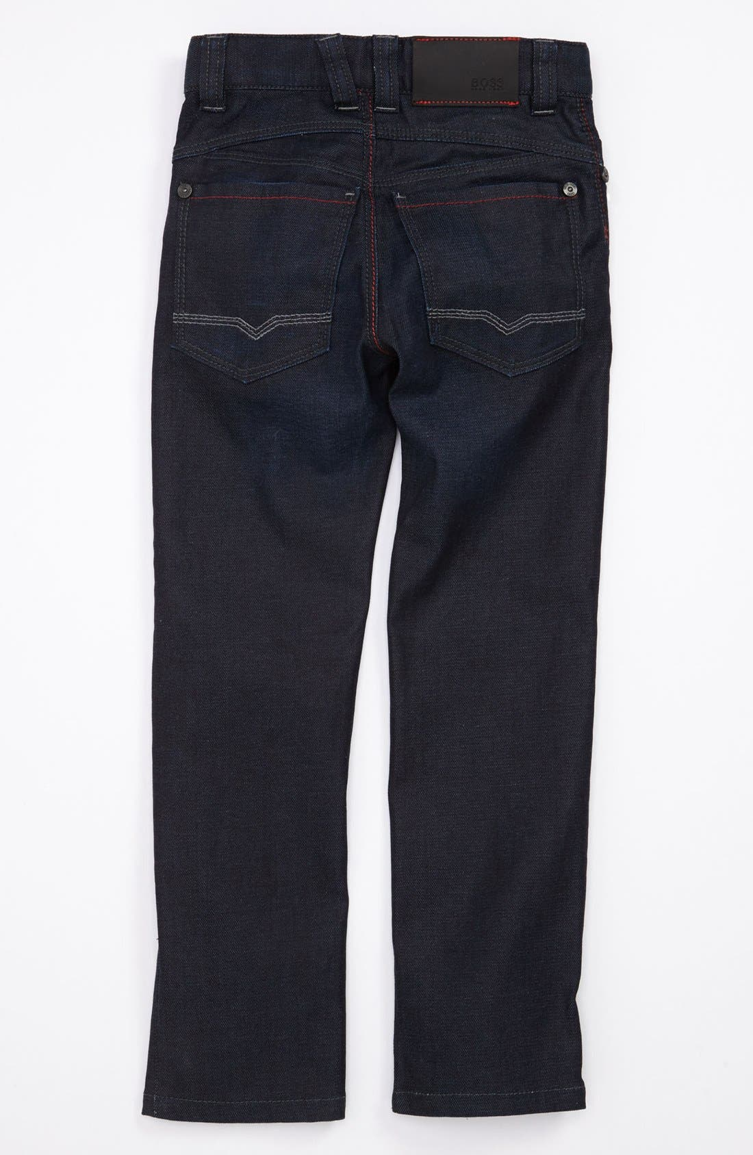 Alternate Image 1 Selected - BOSS Kidswear 'Montana' Slim Straight Jeans (Little Boys & Big Boys)