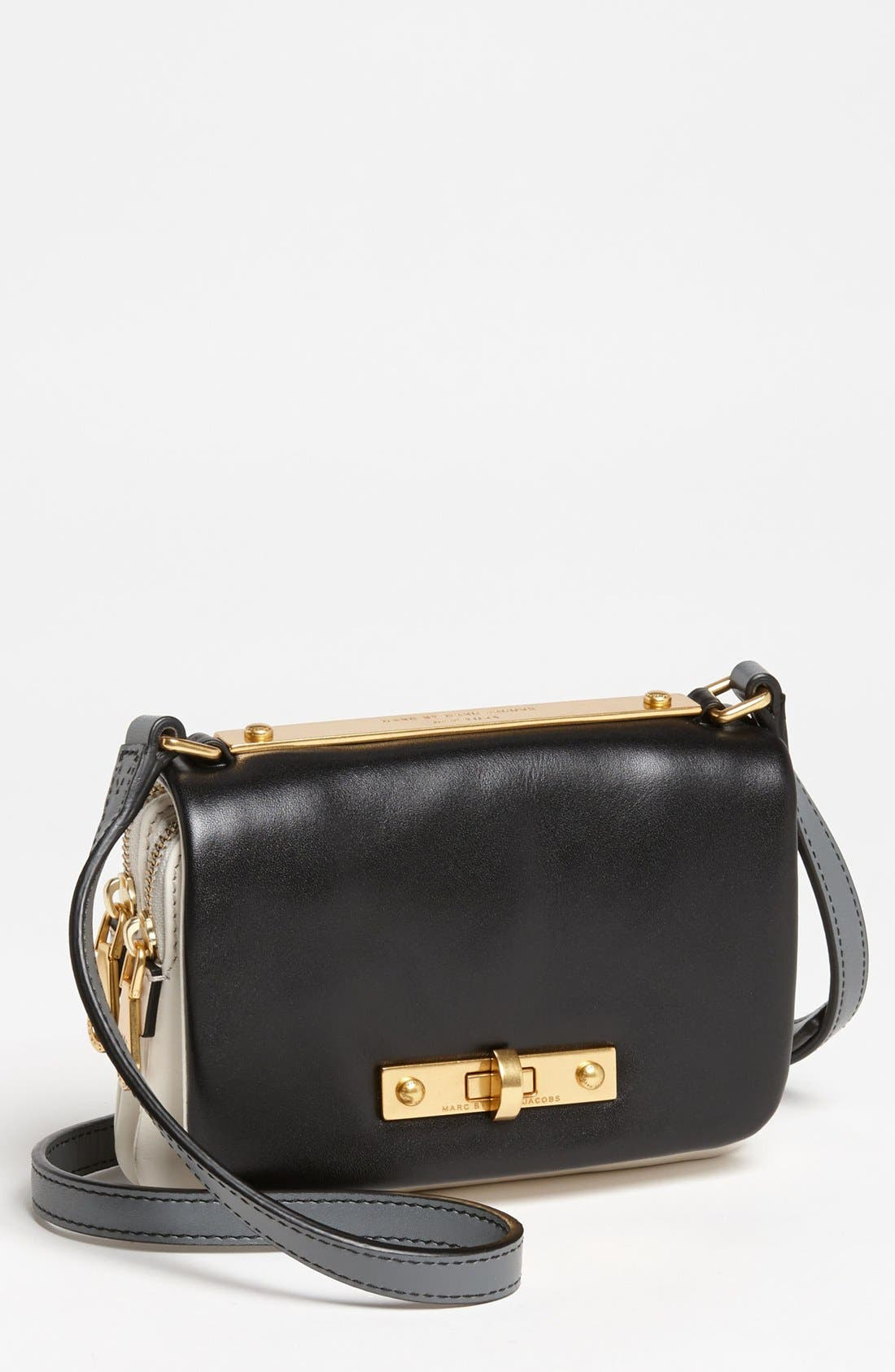 Main Image - MARC BY MARC JACOBS 'Goodbye Columbus - Mini' Leather Crossbody Bag
