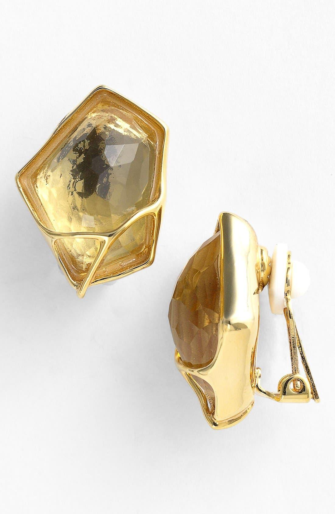 Alternate Image 1 Selected - Alexis Bittar 'Miss Havisham - Liquid Gold' Clip Stud Earrings