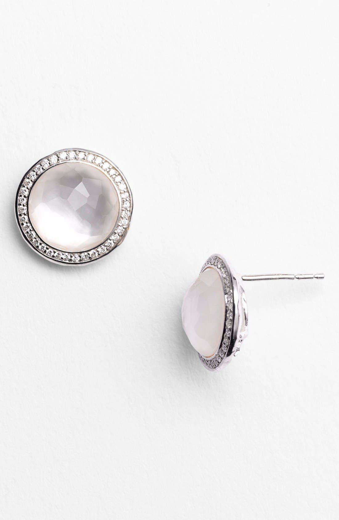 Alternate Image 2  - Ippolita 'Rock Candy - Stella' Diamond & Stone Stud Earrings
