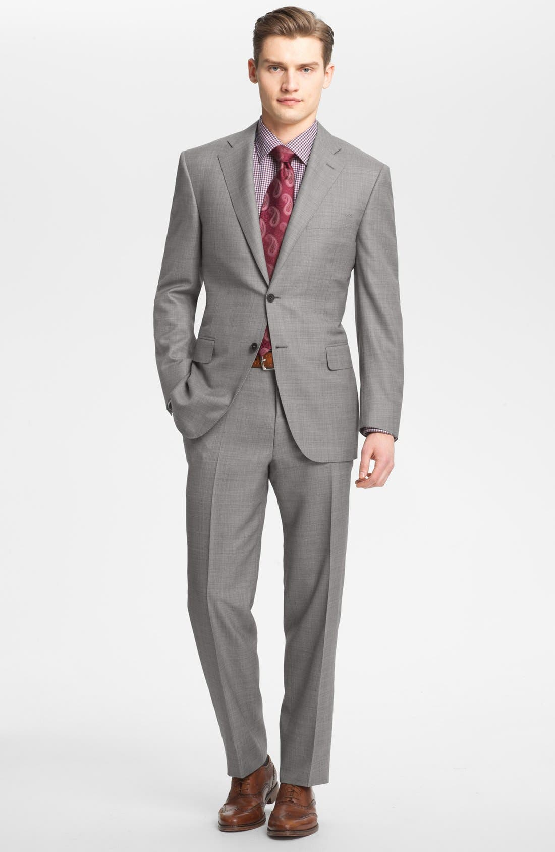 Alternate Image 1 Selected - Canali Wool Blend Suit