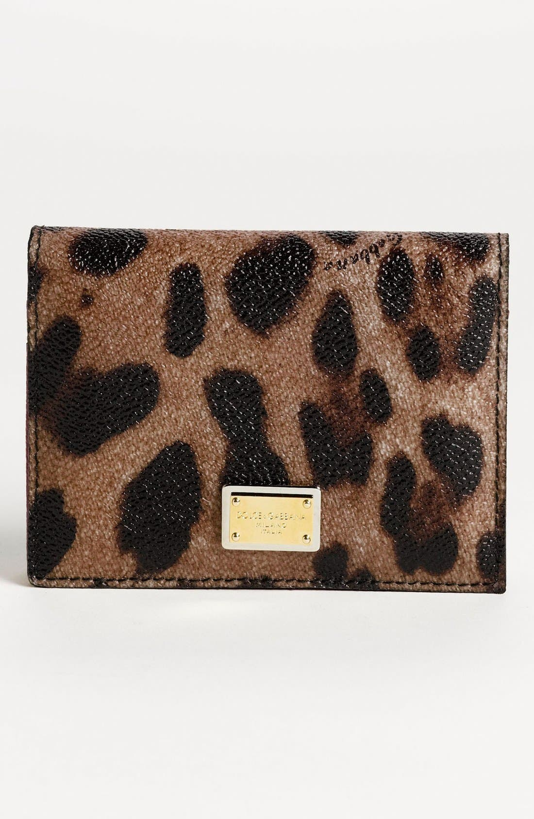 Alternate Image 1 Selected - Dolce&Gabbana 'Miss Cleo' Card Case