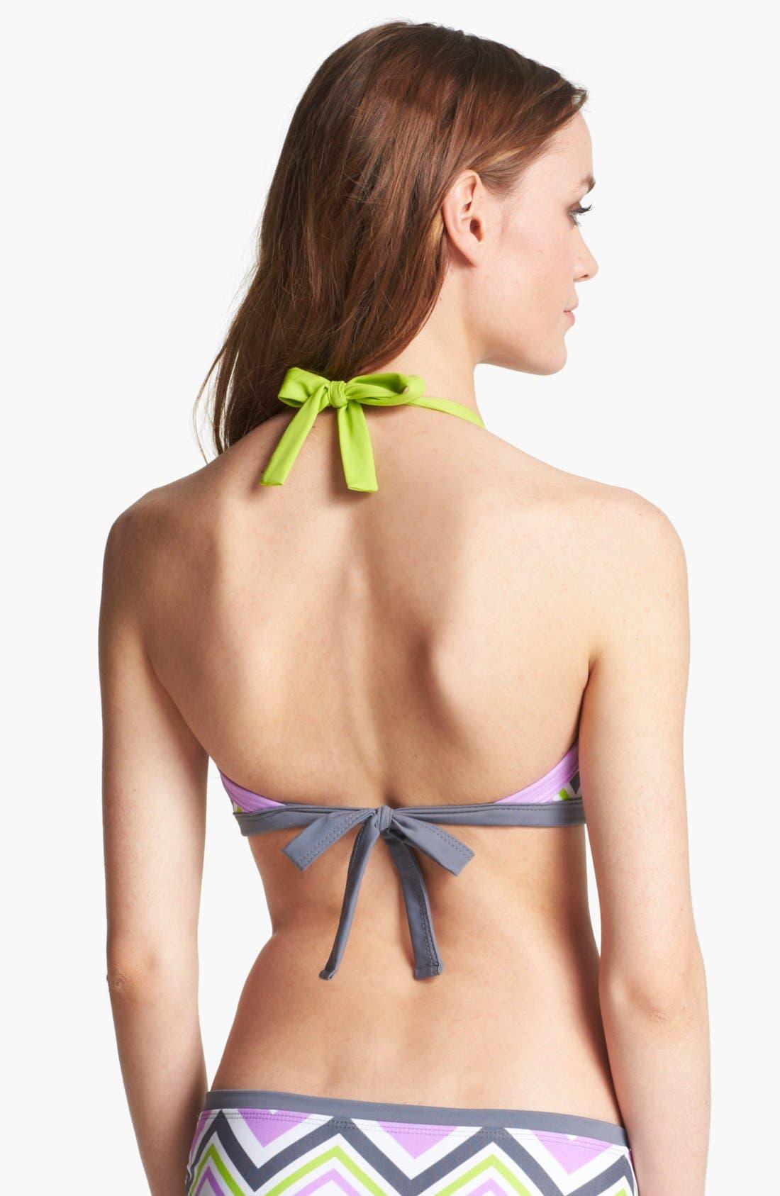Alternate Image 2  - BCA Chevron Stripe Bandeau Bikini Top