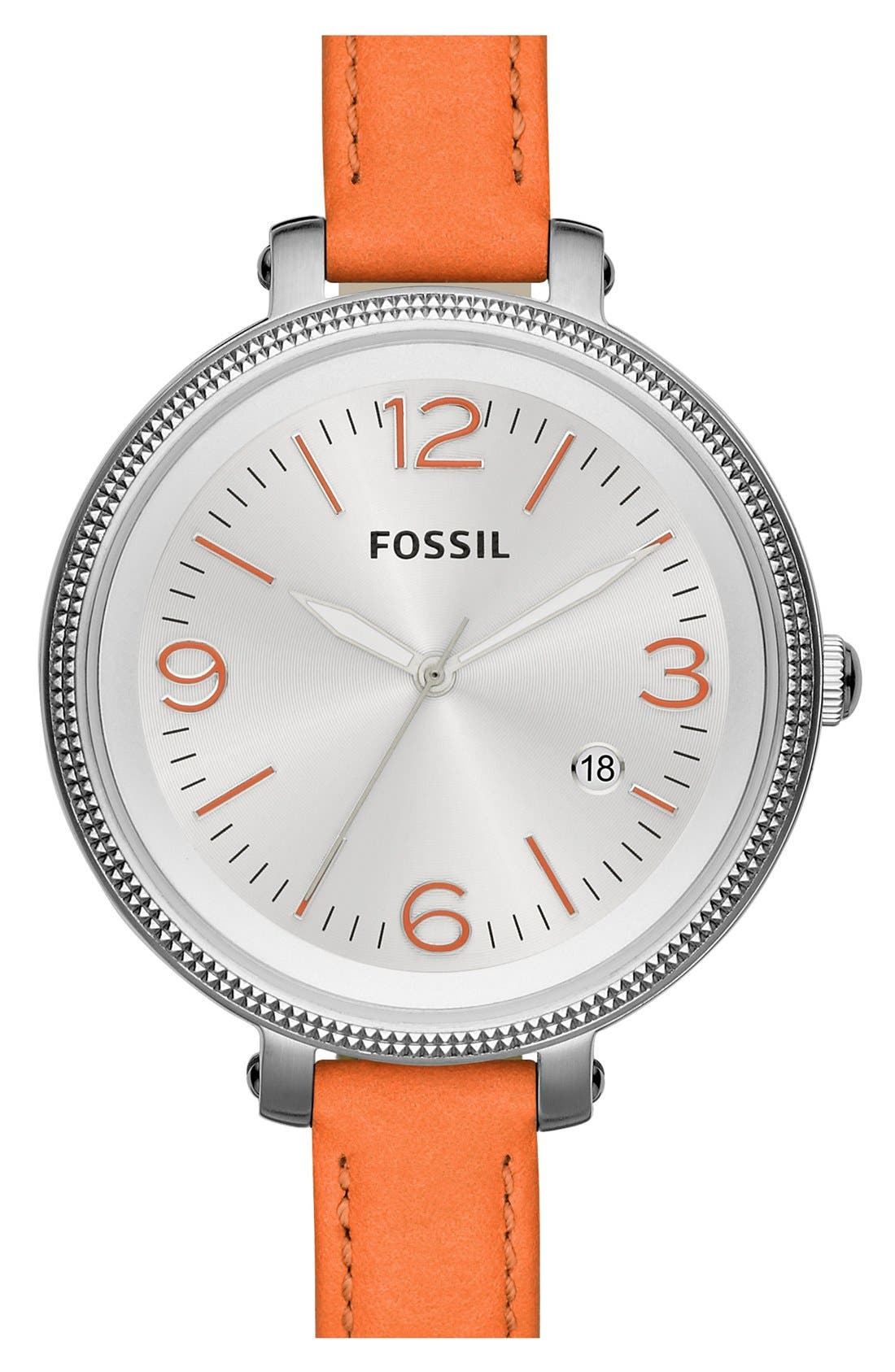 Alternate Image 1 Selected - Fossil 'Heather' Color Accent Watch, 42mm