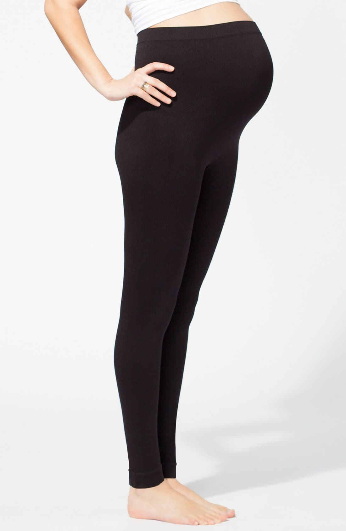 Alternate Image 2  - Ingrid & Isabel® Maternity Belly Leggings