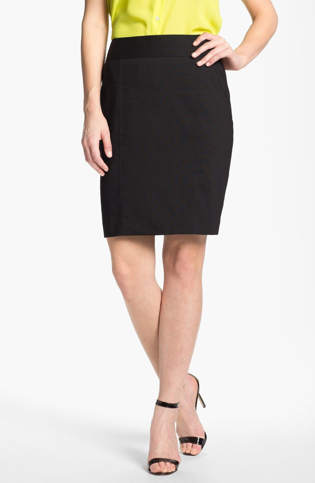 Alternate Image 1 Selected - Halogen® Linen Blend Pencil Skirt