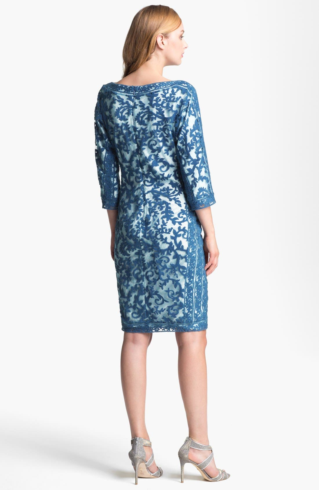 Alternate Image 2  - Tadashi Shoji Embroidered Lace Dress