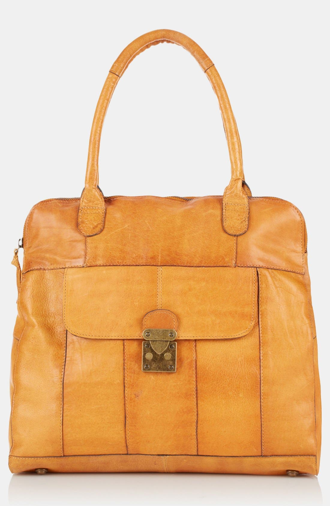 Alternate Image 2  - Topshop 'Triangle Lock' Leather Satchel