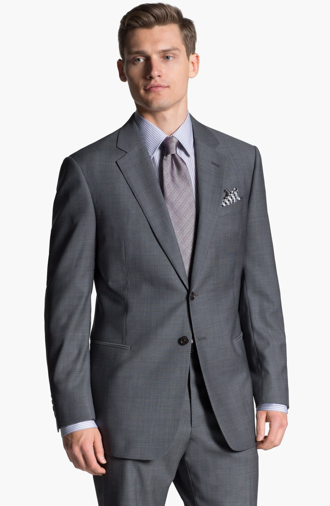 Alternate Image 1 Selected - Armani Collezioni 'Giorgio' Tic Weave Wool Suit