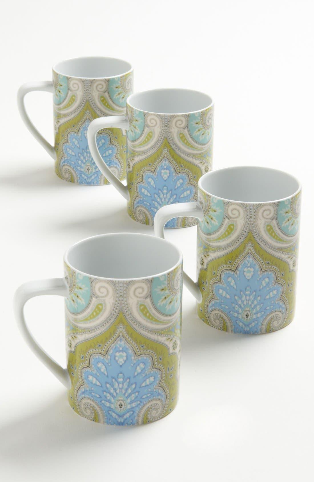 Main Image - Echo 'Latika - Seafoam' Mugs (Set of 4)