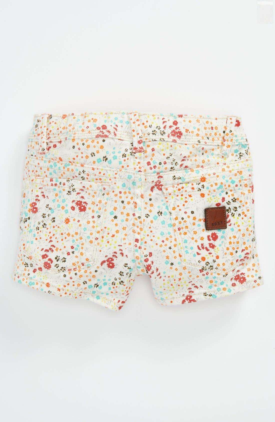 Alternate Image 1 Selected - 'Festival' Colored Denim Shorts (Little Girls)