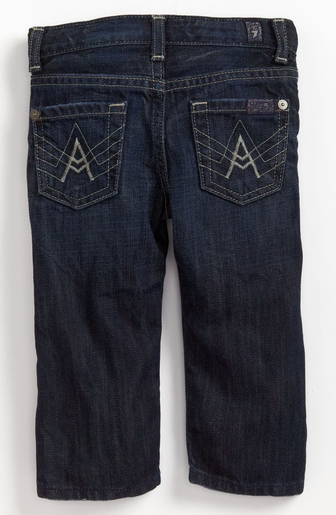 Main Image - 7 For All Mankind® 'Standard' Straight Leg Jeans (Baby Boys) (Online Only)