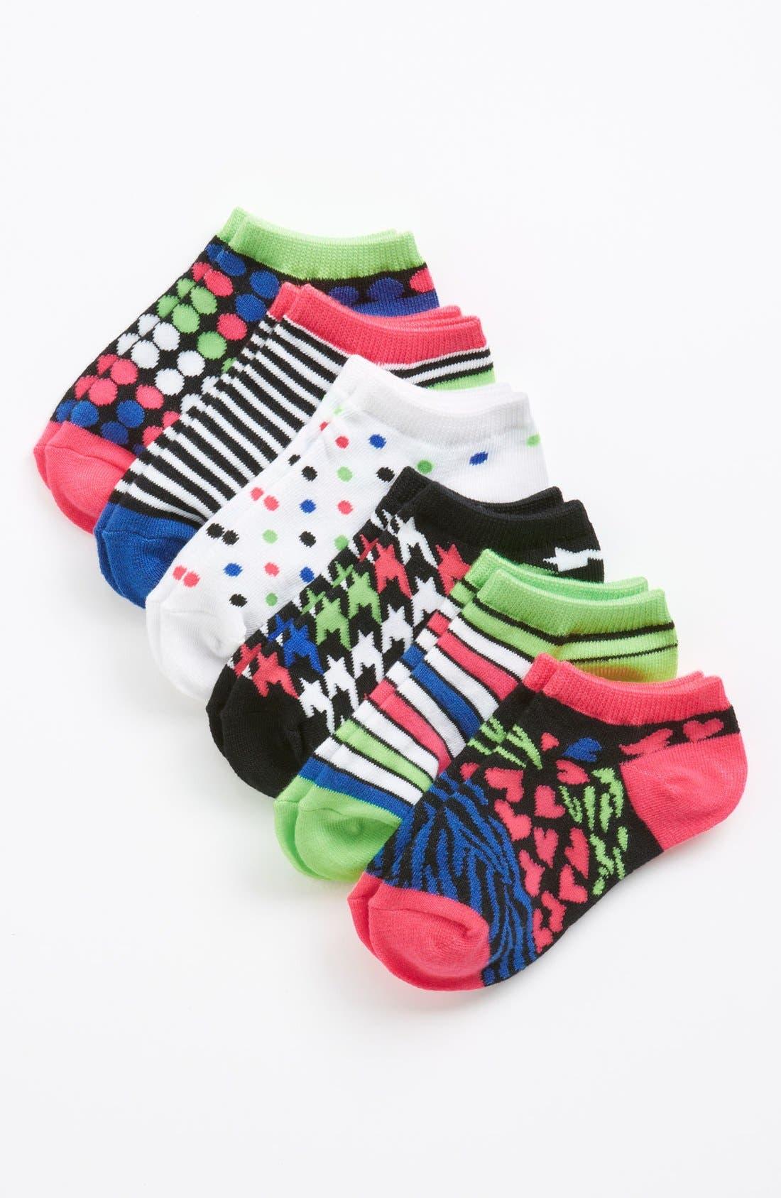 Main Image - Nordstrom 'Mod Mix' Low Cut Socks (6-Pack) (Toddler, Little Girls & Big Girls)