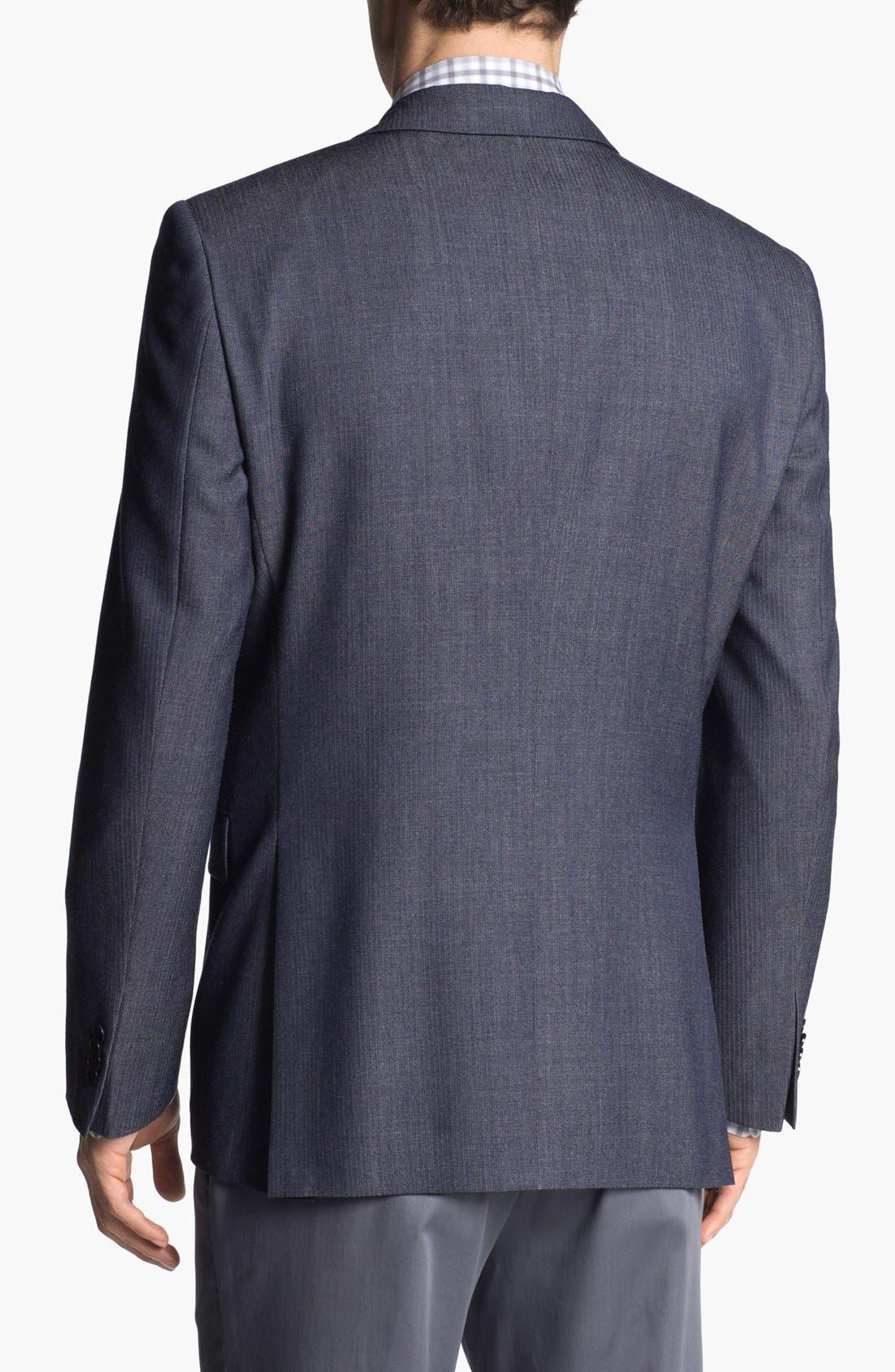 Alternate Image 3  - John Varvatos Star USA Herringbone Trim Fit Wool Sportcoat