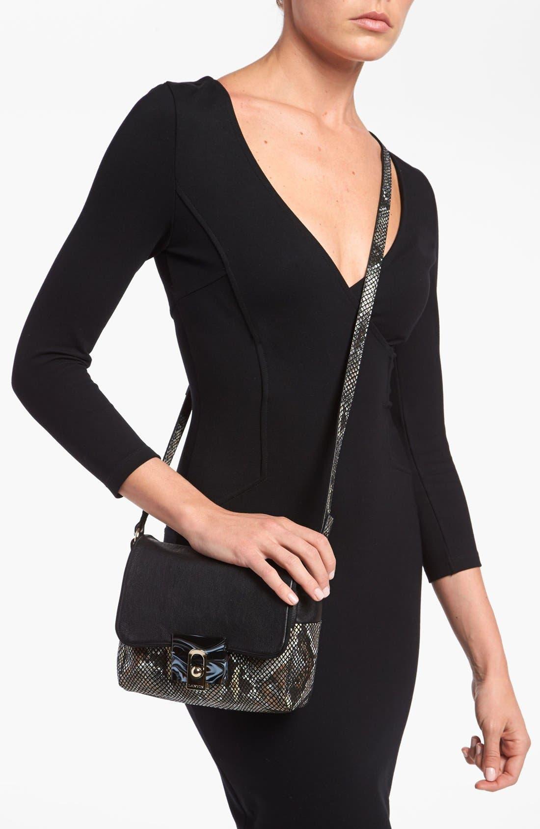 Alternate Image 2  - Lanvin 'For Me - Small' Faux Snakeskin Crossbody Bag