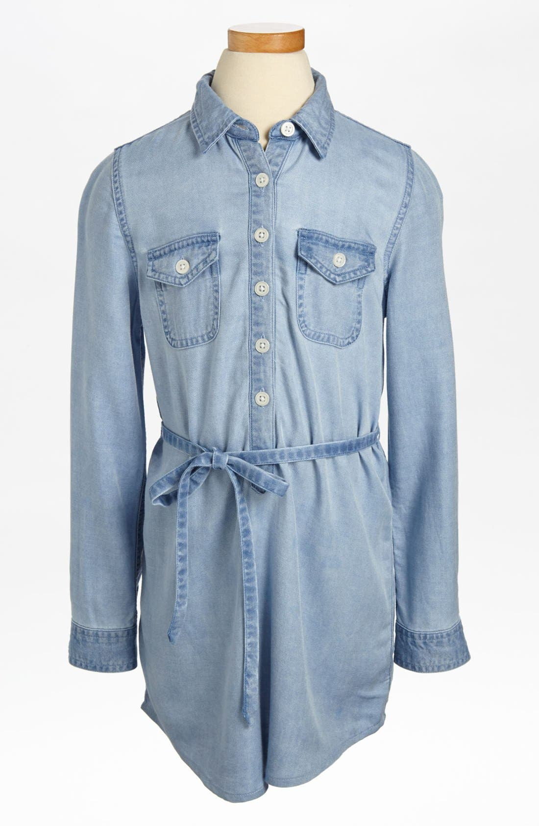 Alternate Image 1 Selected - Tucker + Tate 'Drew' Chambray Shirtdress (Little Girls)