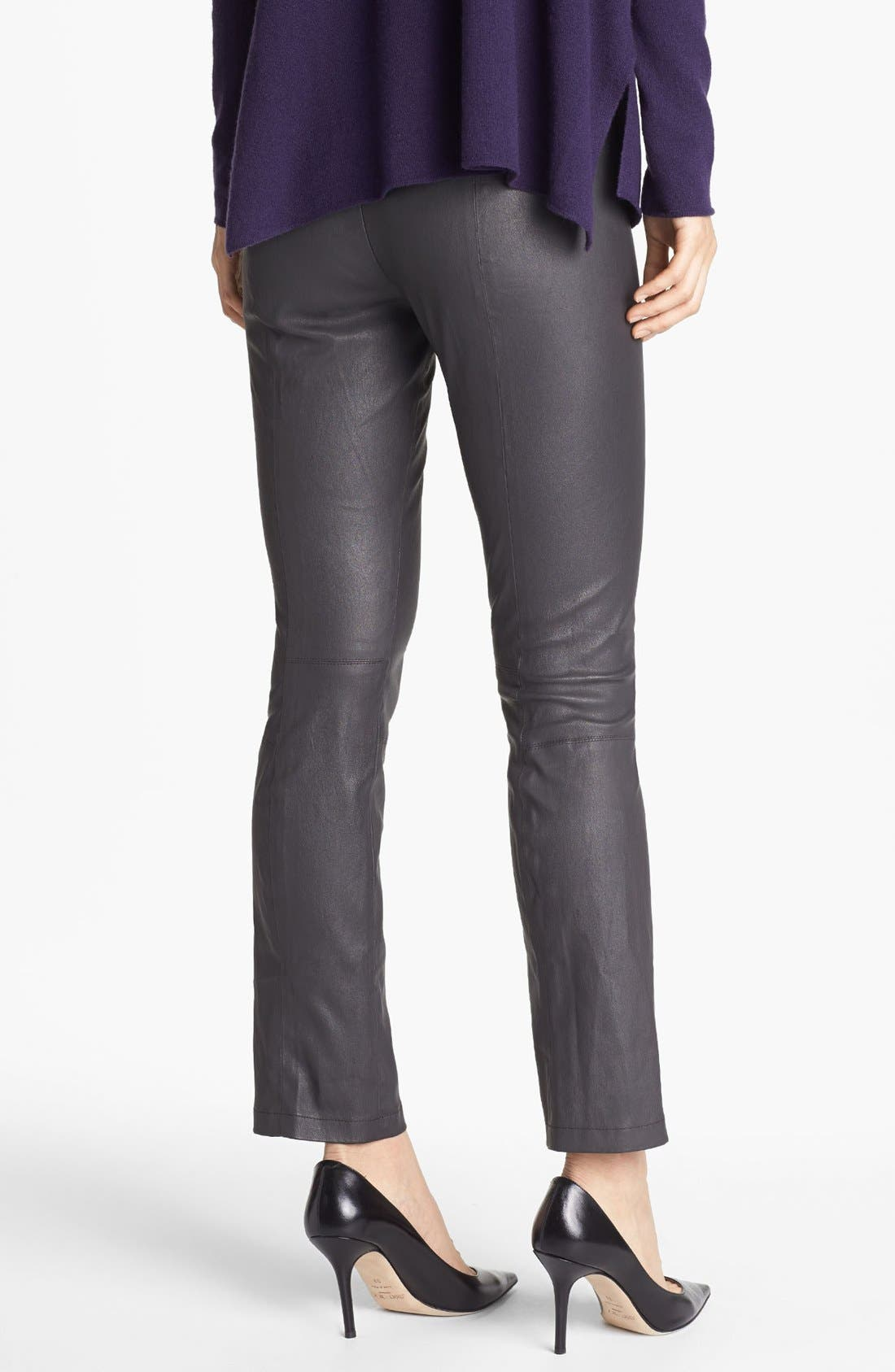 Alternate Image 2  - Vince Crop Bootcut Leather Pants