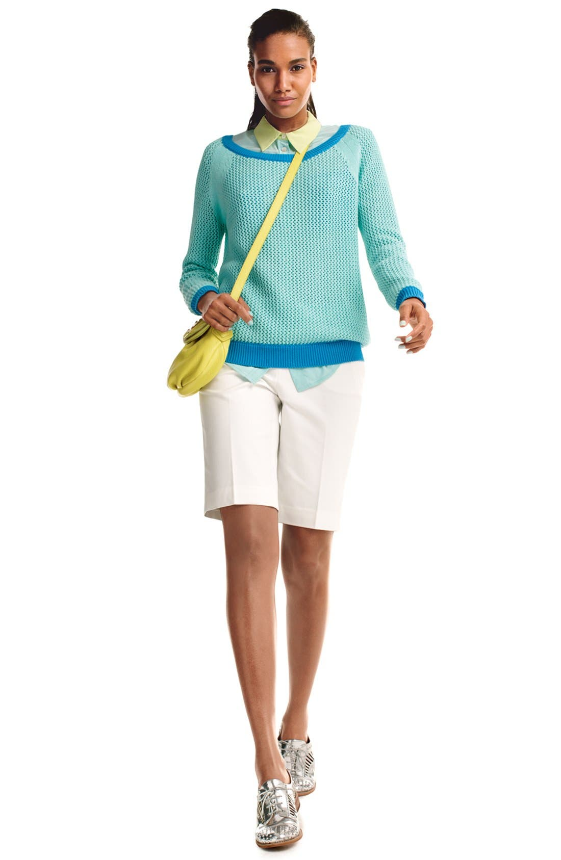 Alternate Image 4  - Two by Vince Camuto Open Stitch Sweater