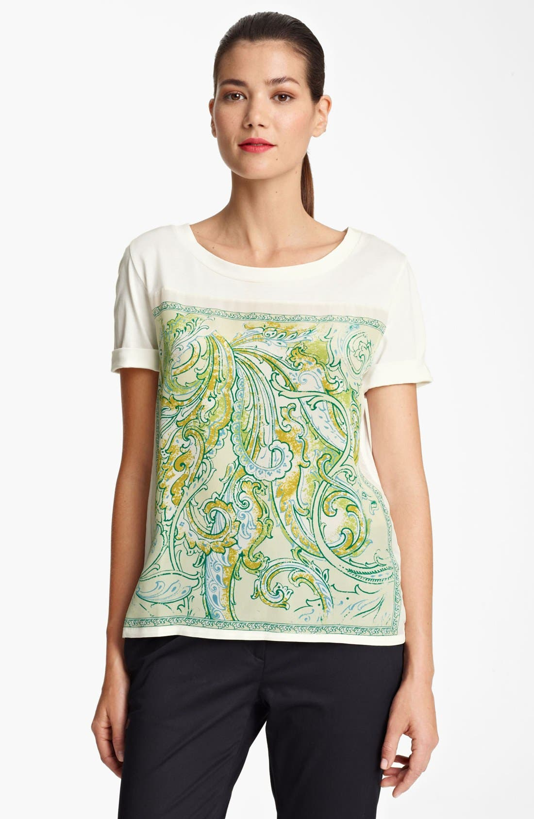Alternate Image 1 Selected - Piazza Sempione Paisley Panel Tee