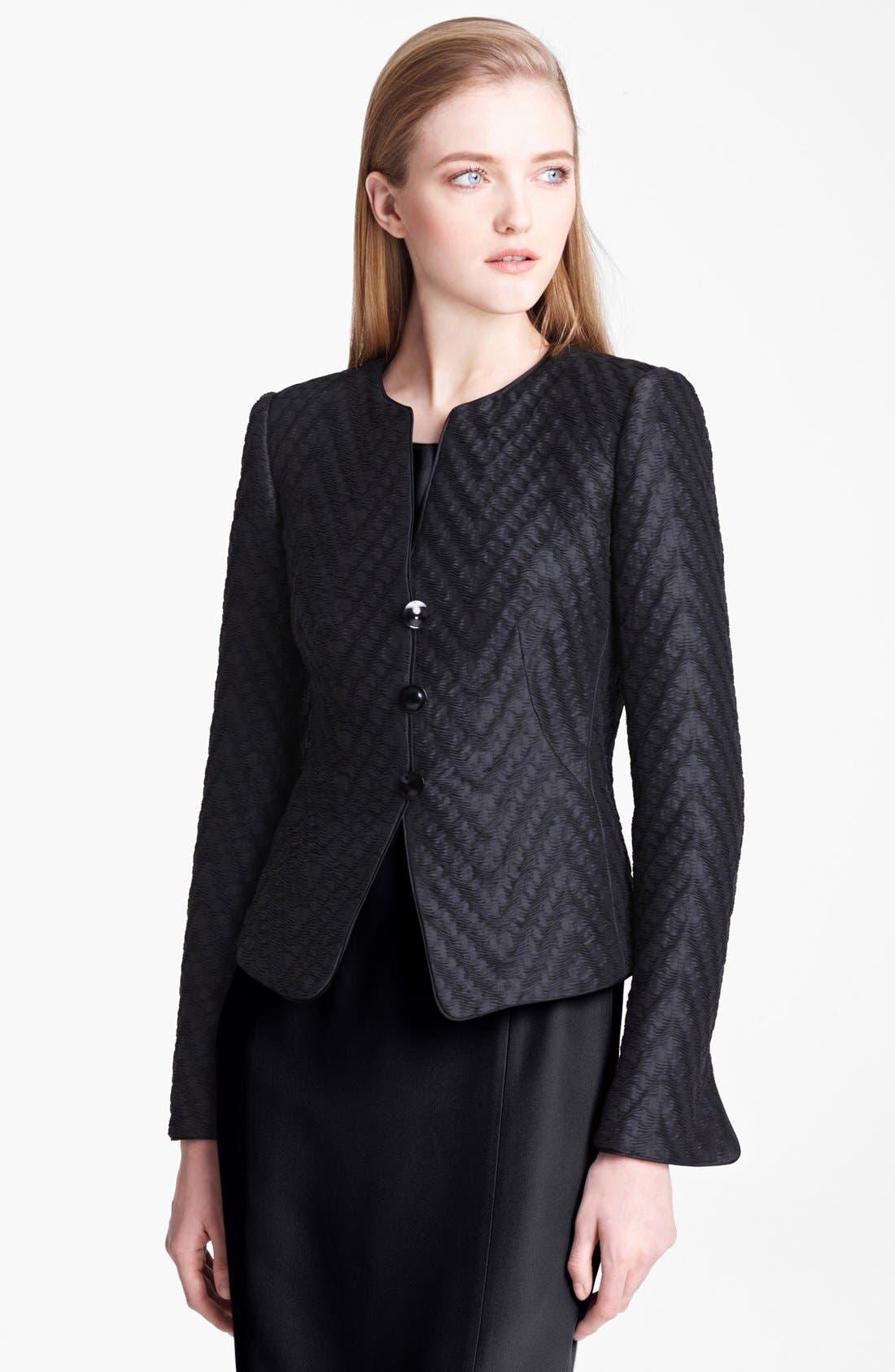 Alternate Image 1 Selected - Armani Collezioni Wave Jacquard Jacket