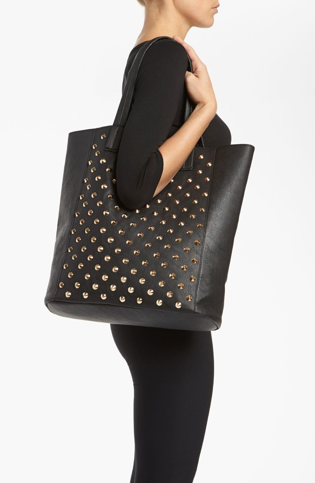 Alternate Image 2  - BP. Studded Faux Leather Tote