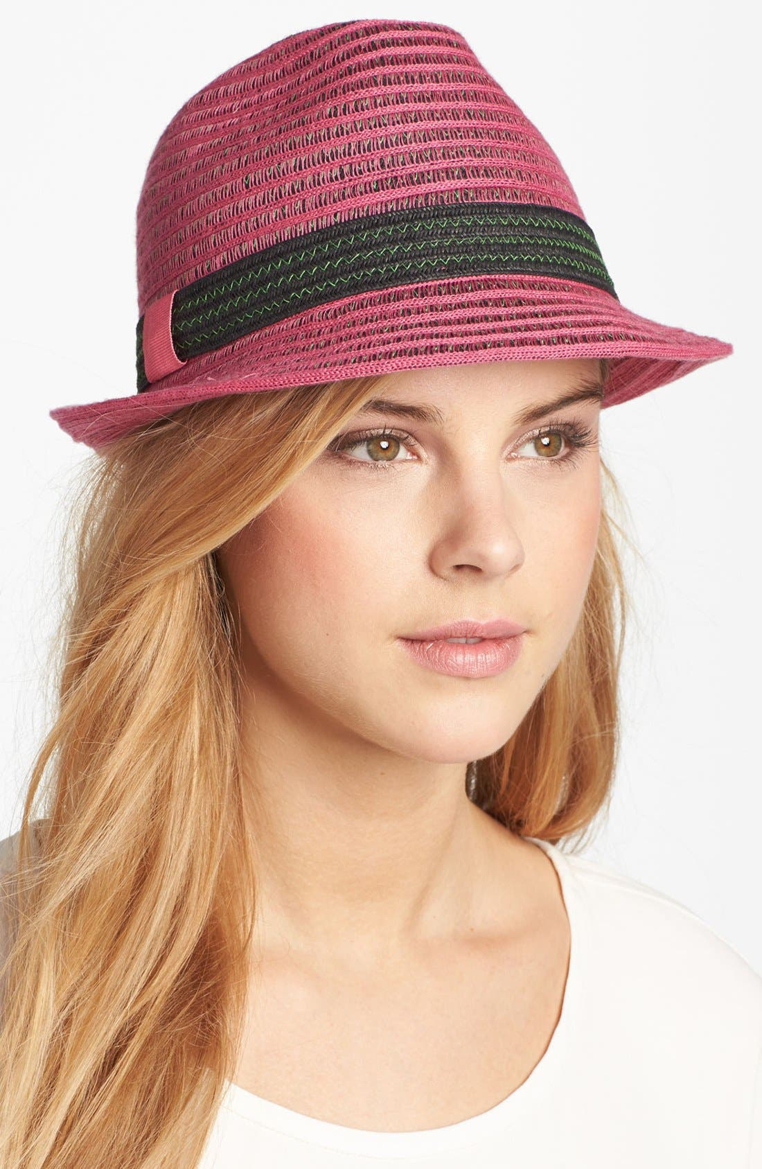 Alternate Image 1 Selected - Nordstrom Cotton Mesh Fedora