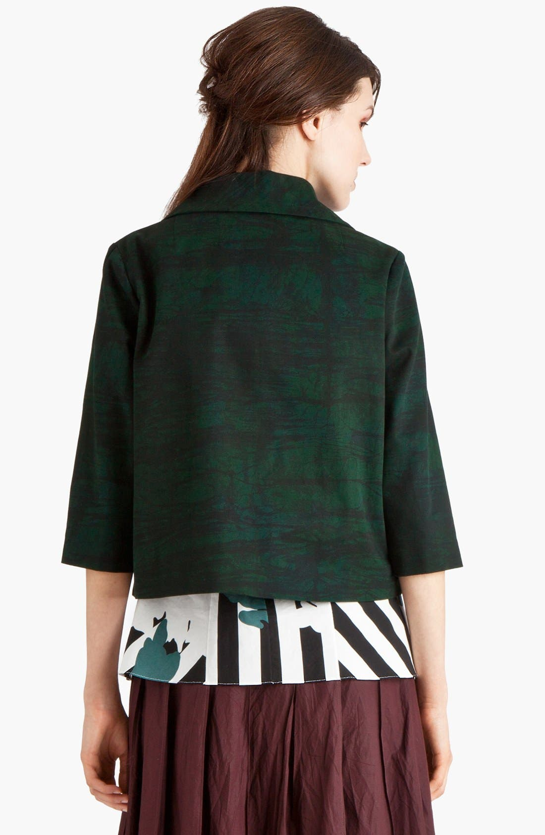 Alternate Image 2  - Marni Print Gabardine Crop Jacket