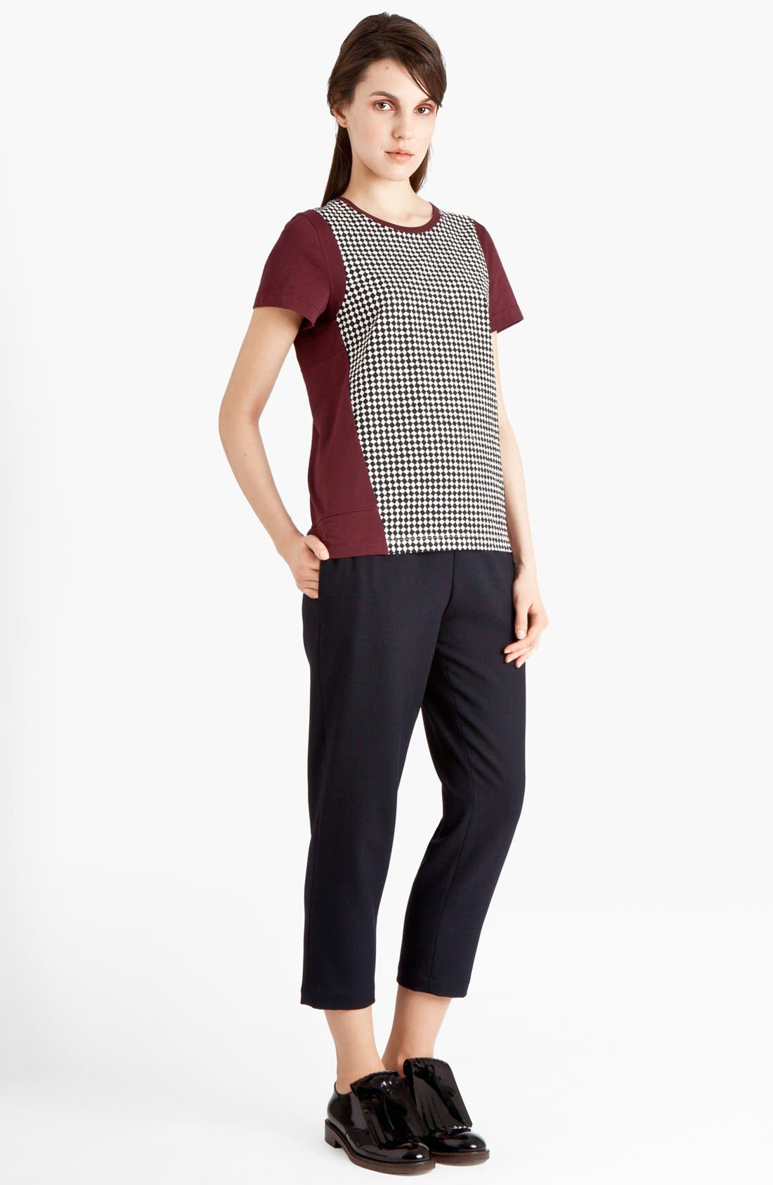 Alternate Image 1 Selected - Marni Houndstooth Front Jersey Tee