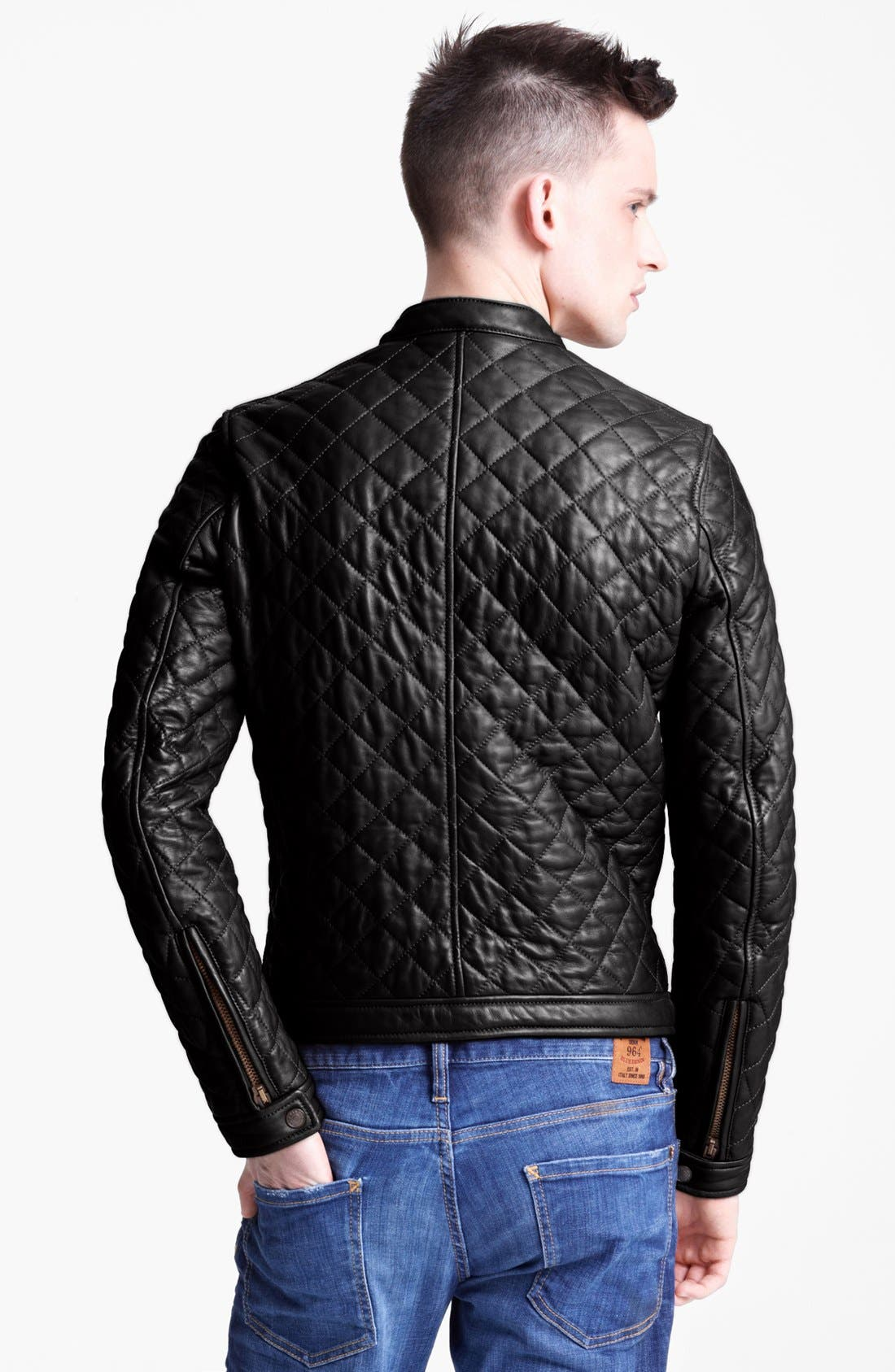 Alternate Image 2  - Dsquared2 Quilted Leather Jacket