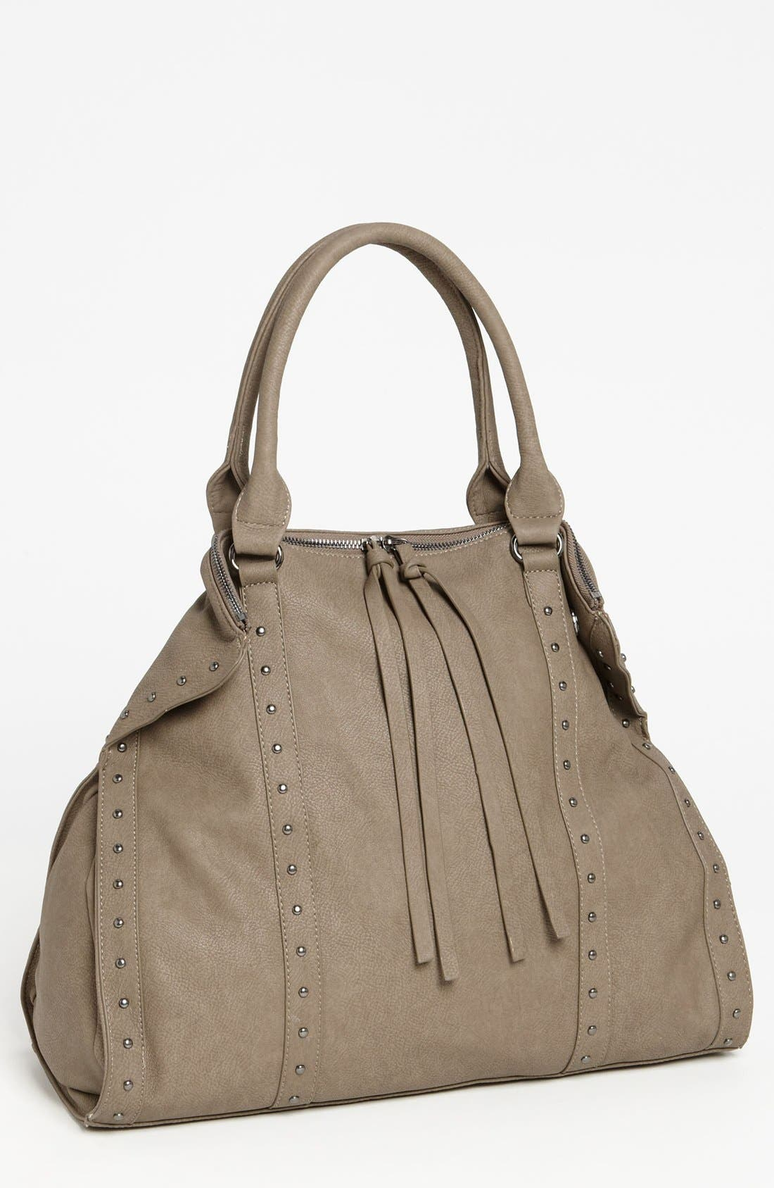 Main Image - Cesca Stud Trim Slouchy Tote (Juniors) (Online Only)