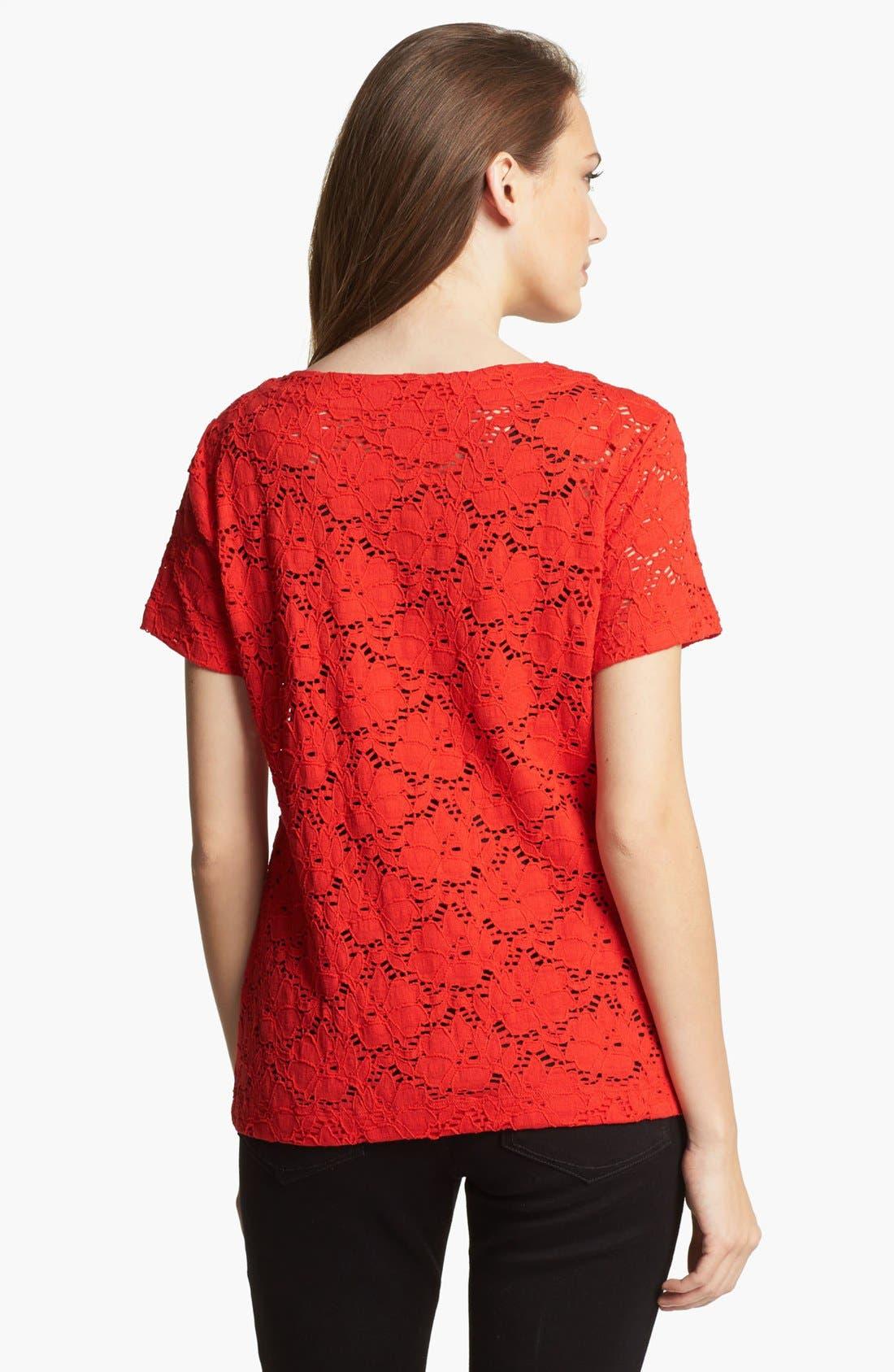 Alternate Image 2  - Chaus 'Floral Garden' Lace Top