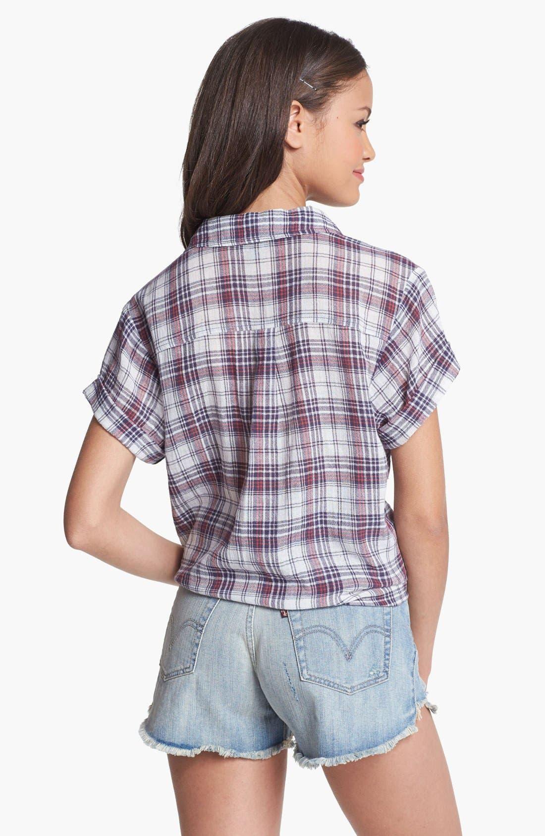 Alternate Image 2  - Rubbish® Plaid Shirt (Juniors)