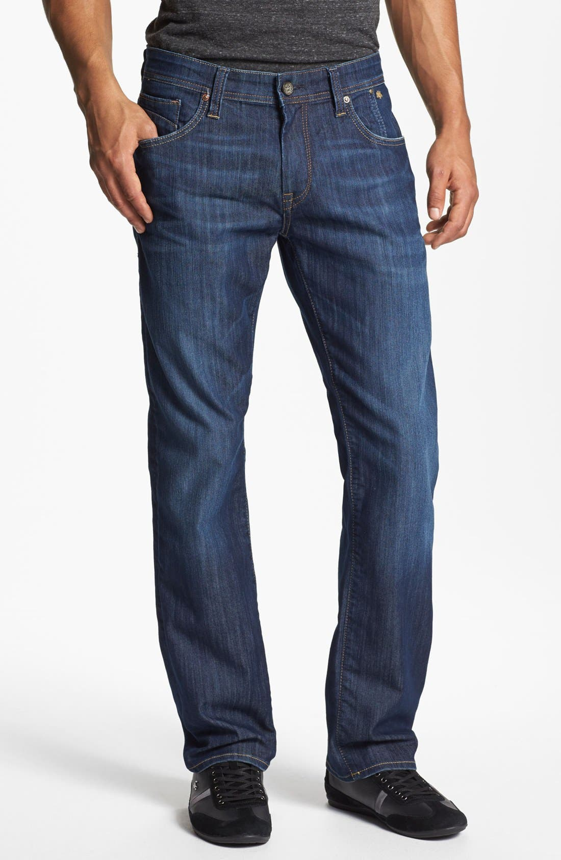 Alternate Image 1 Selected - Mavi Jeans 'Zach' Straight Leg Jeans (Dark Maui) (Online Only)
