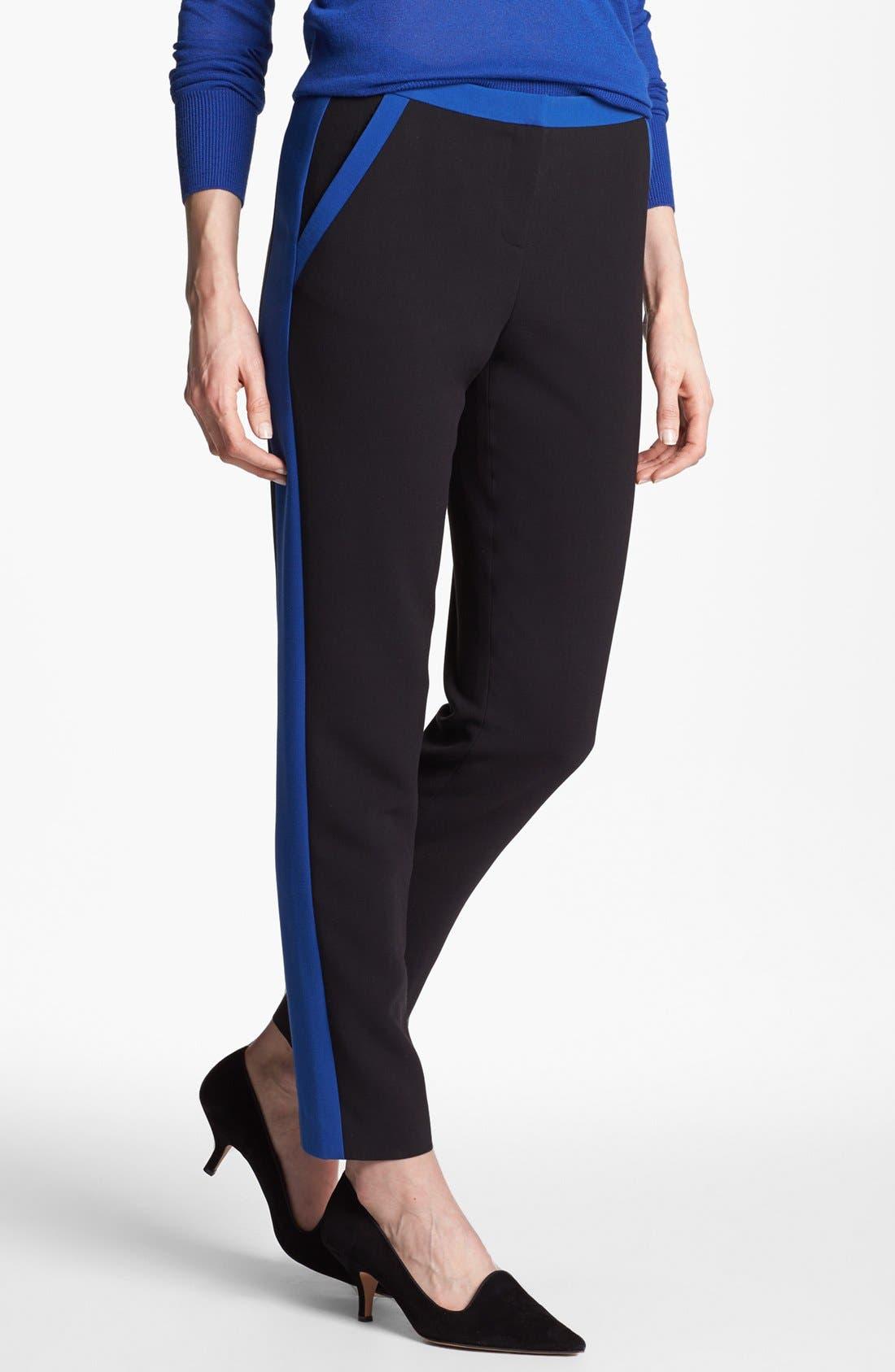 Alternate Image 1 Selected - Halogen® 'Quinn' Tuxedo Skinny Ankle Pants