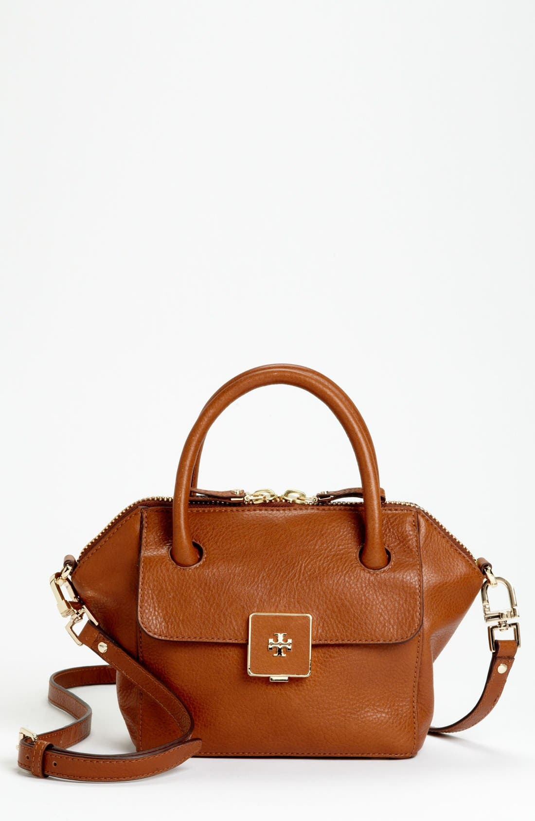 Main Image - Tory Burch 'Clara - Mini' Leather Crossbody Bag