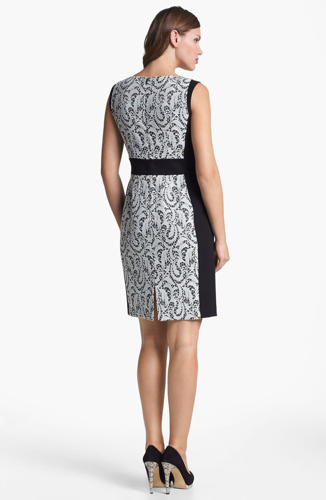 Alternate Image 2  - Lafayette 148 New York 'Ansel - Chantilly Jacquard' Dress