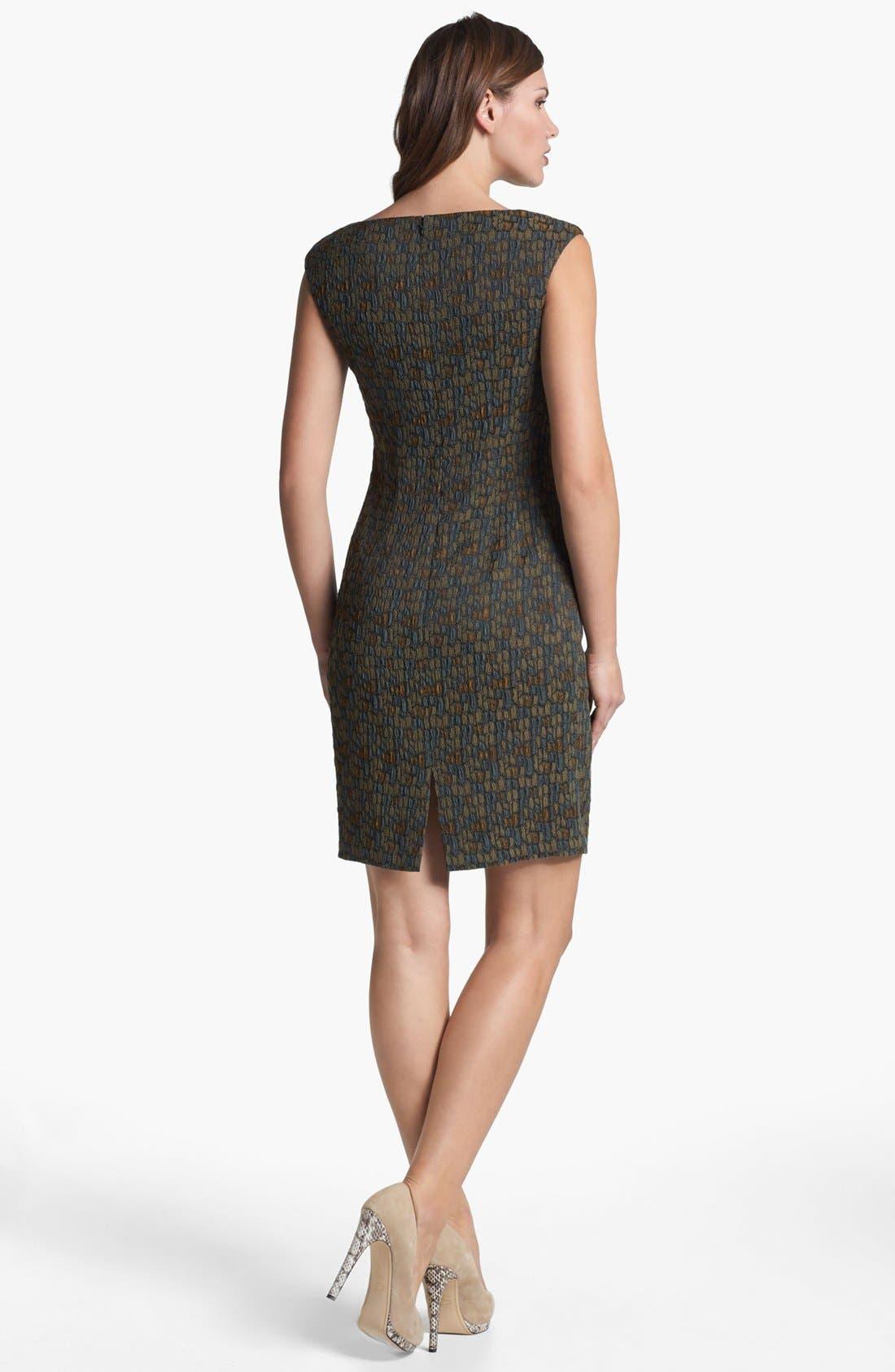 Alternate Image 2  - Lafayette 148 New York 'Bianca - Fossilized Jacquard' Dress