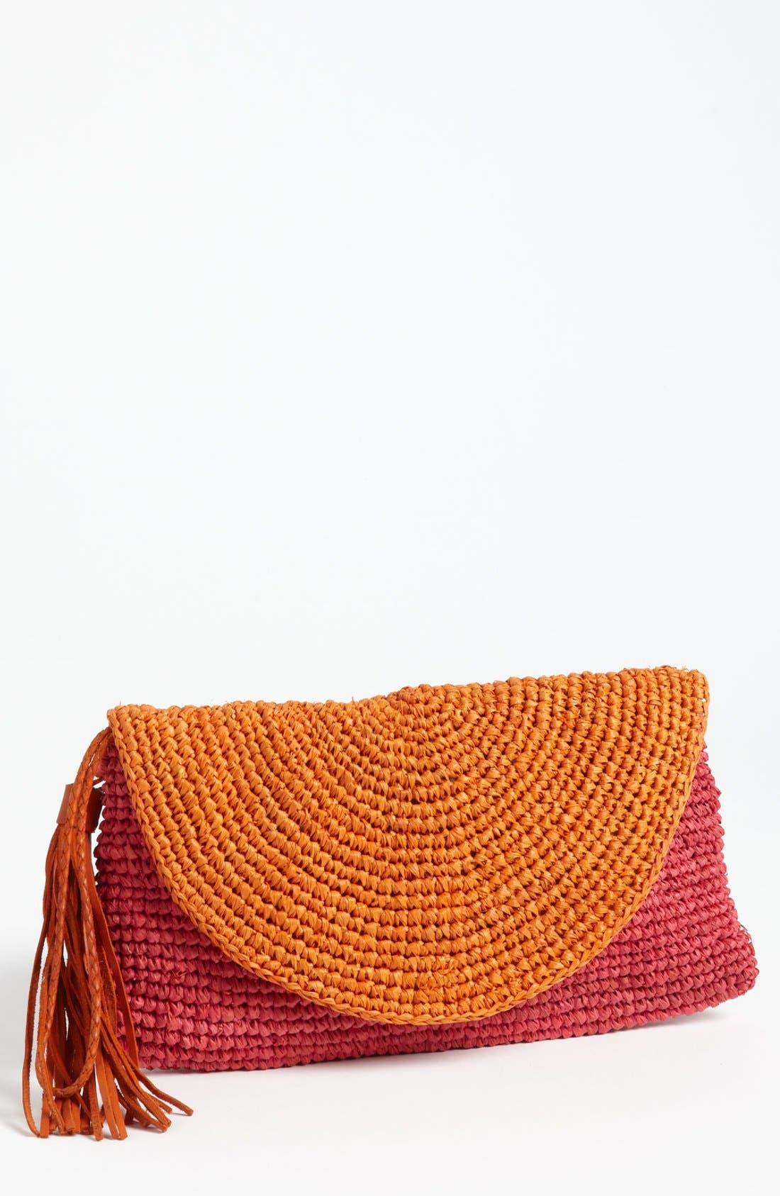 Alternate Image 1 Selected - Mar y Sol 'Camille' Raffia Clutch