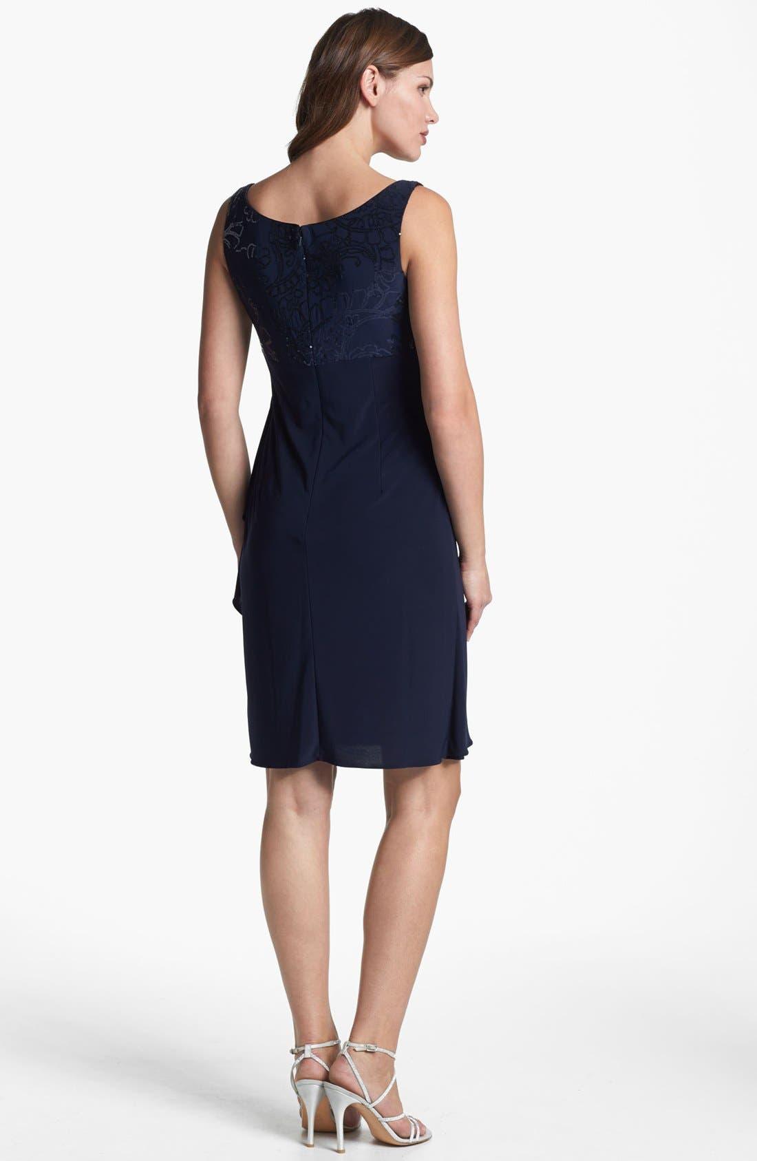 Alternate Image 3  - Alex Evenings Sequin Trim Dress & Bolero (Petite)
