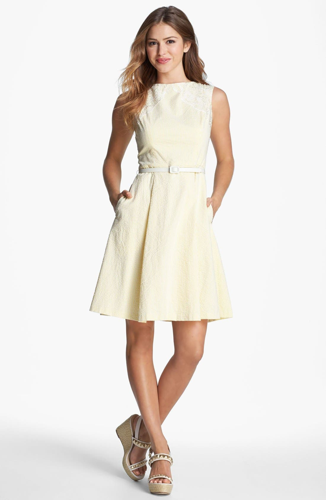 Alternate Image 1 Selected - Maggy London Seersucker Dress