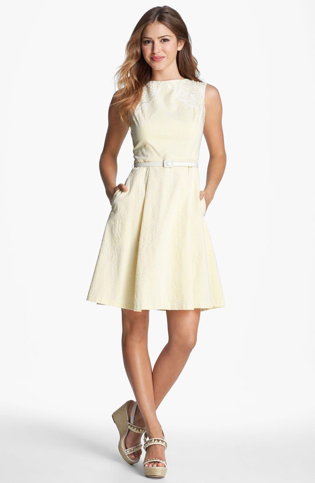 Main Image - Maggy London Seersucker Dress