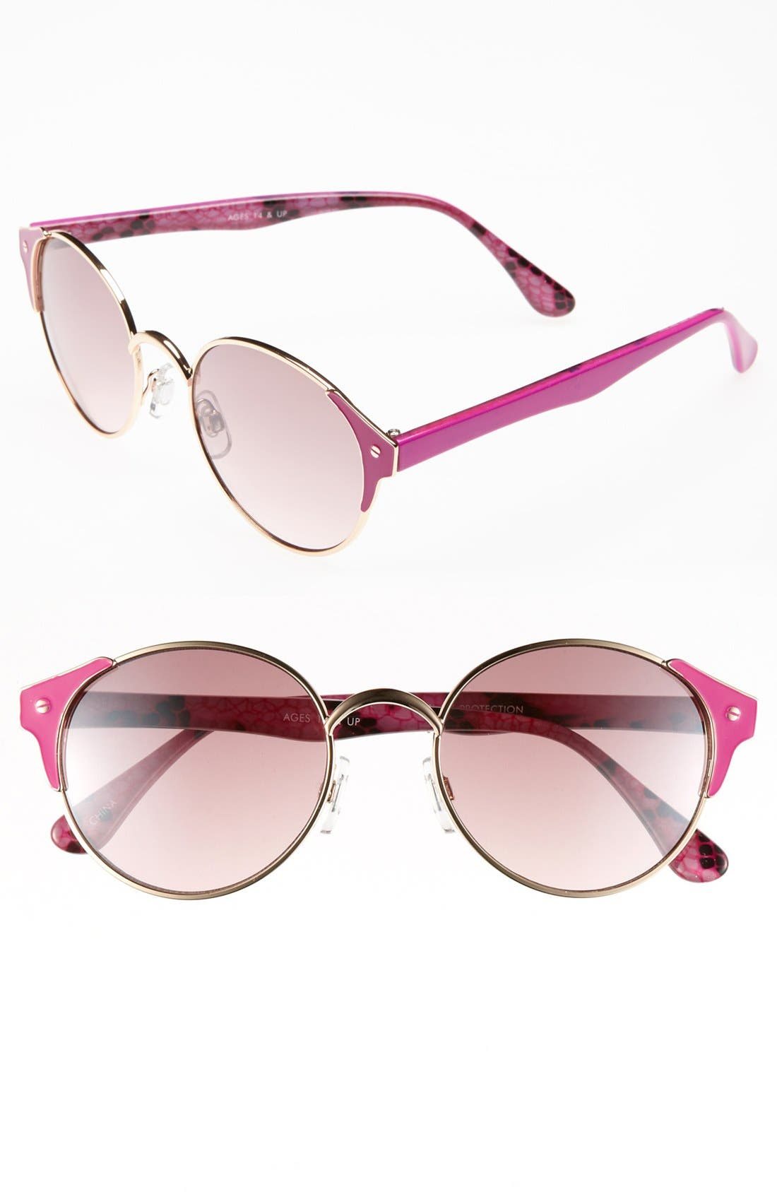 Alternate Image 1 Selected - FE NY 'Color Wire' Metal Sunglasses
