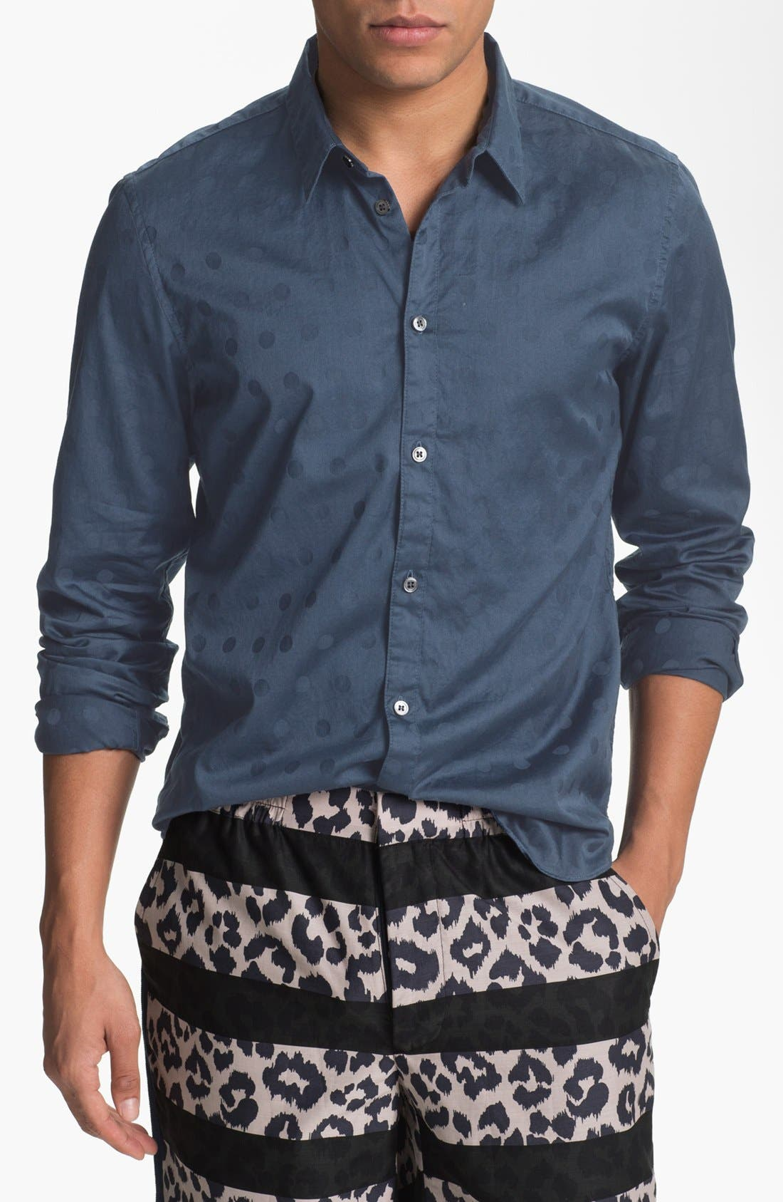 Alternate Image 1 Selected - MARC BY MARC JACOBS 'Dustin' Dot Print Woven Shirt