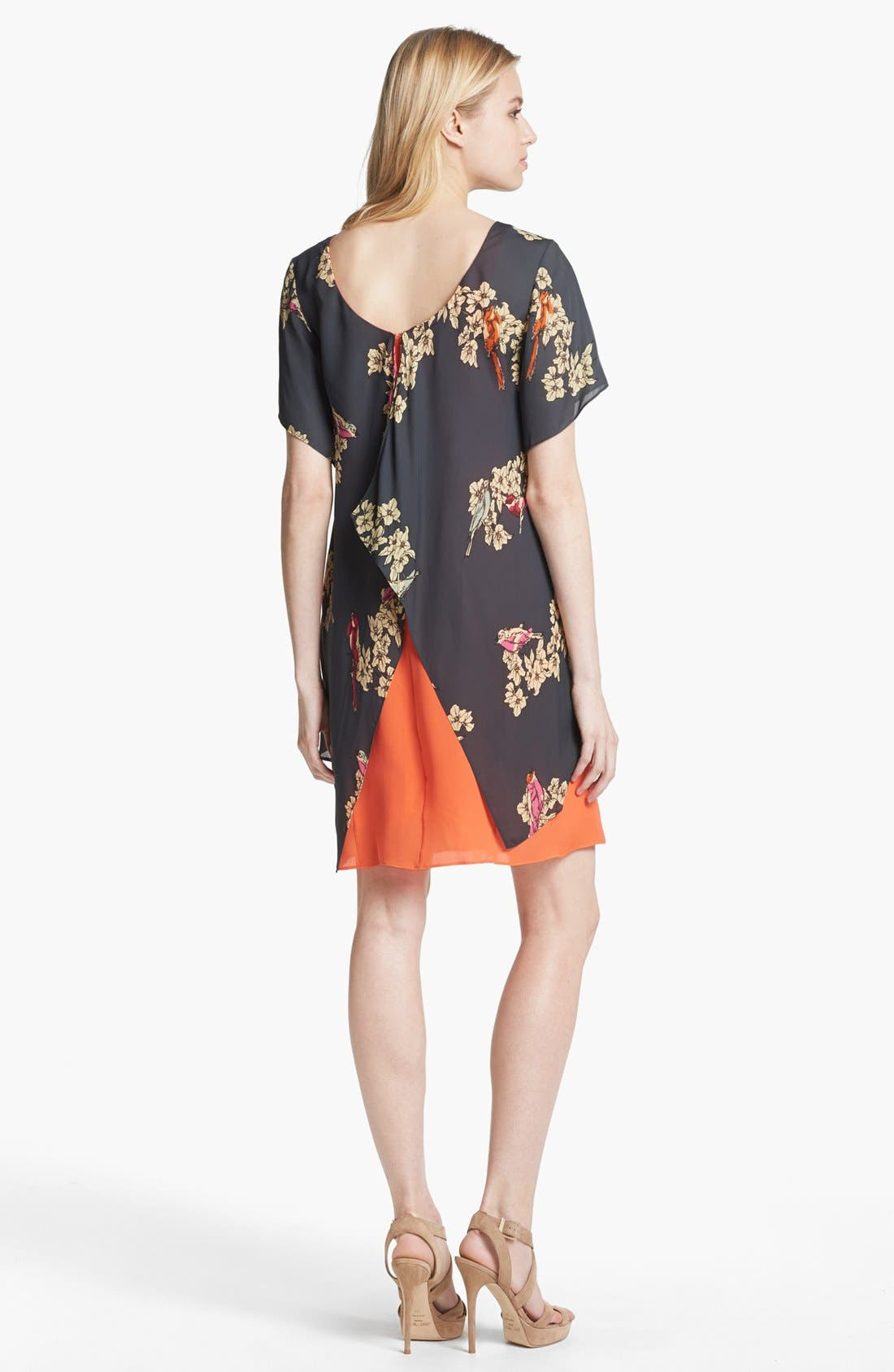 Alternate Image 2  - Rachel Roy Layered Silk Shift Dress