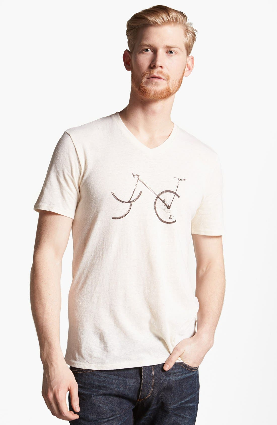 Alternate Image 1 Selected - Rogan 'NYC Bike' Graphic V-Neck T-Shirt